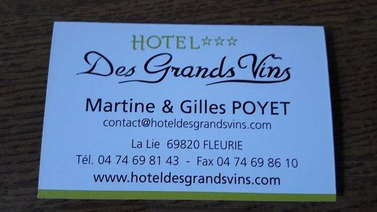 Fleurie, Prancis: carte de l'hôtel pour réservation