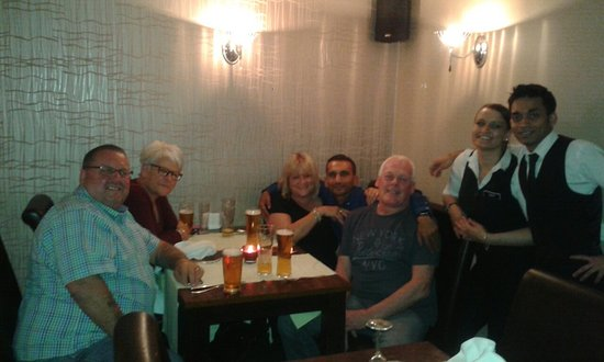 The RiverCross: One of our night's out with friends at our favourite Indian with some of the staff!