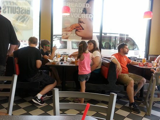 Hardee's: 3rd table, to the far right is still waiting for their orer.