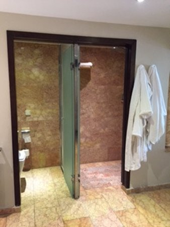 Majestic Elegance Punta Cana: There Is A Rain Shower Head And Sideways  Shower Heads.
