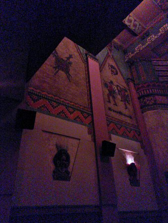 Landmark's Mayan Theatre: Interior of the Mayan Theater. Sorry, no flash. But you get the idea. Theater, like it used to b