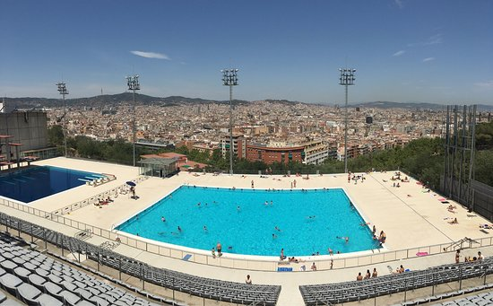 Picture of piscina municipal de montjuic for Piscina montjuic barcelona