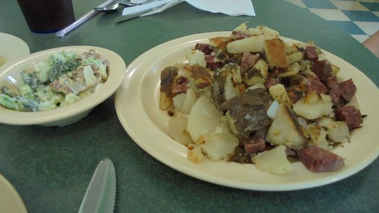 Marietta, OH: Corned Beef Hash with Great Broccoli Salad