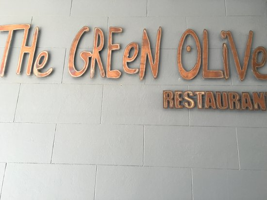 Green Olive Restaurant : The New Olive Signage.