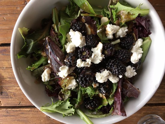Loaded Joe's - Avon: The Forager! Mixed greens, blue cheese HUGE blackberries, sliced almonds & yummy dressing