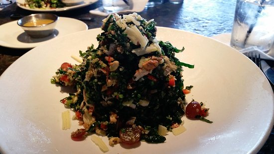 San Clemente, CA: Kale and Quinoa salad - you can also add chicken or salmon to the basic salad.