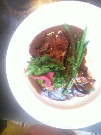 Vergennes, VT: Brie and bacon chicken