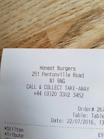 Honest Burgers Kings Cross: 20160722_140141_large.jpg