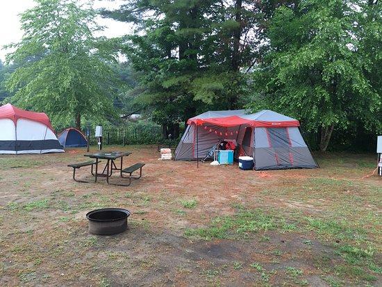Ashland, New Hampshire: Our campsite