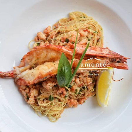 Angel Hair River Prawn A O P Sauce Picture Of Amonte Restaurant