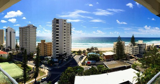 View From 10th Floor Of Baronnet Apartments Surfers Paradise