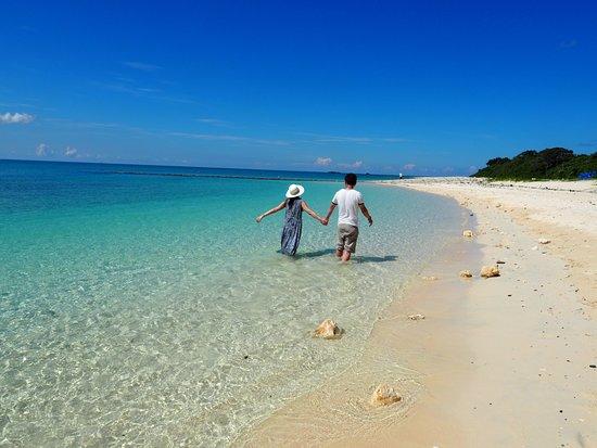 The beach is on Irabu Island. - Picture of Irabu Bridge ...
