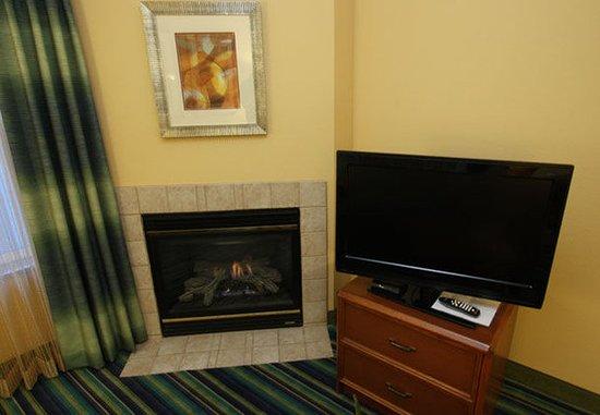 Spokane Valley, Ουάσιγκτον: Two-Bedroom Suite Fireplace