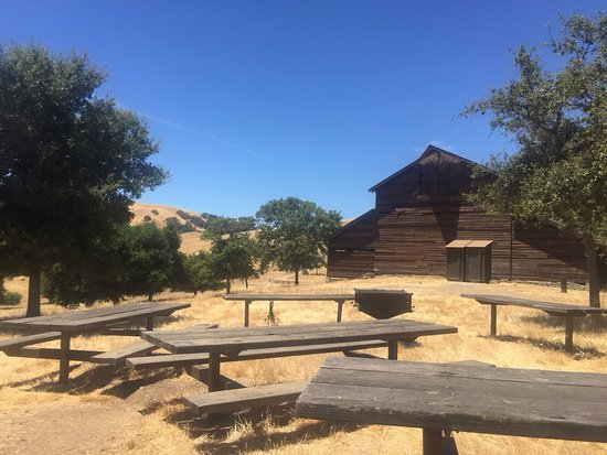 Sunol, Kaliforniya: High valley Camp. 十分な数のPicnic Tableがあります