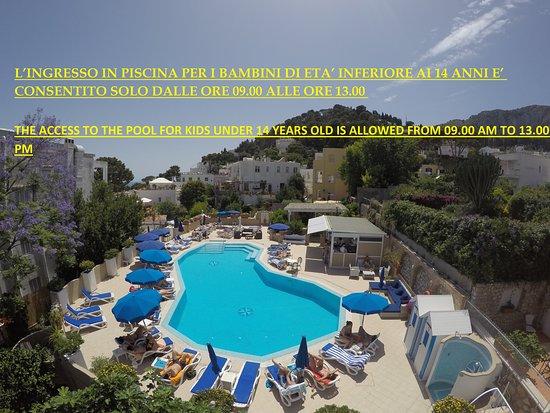 Hotel Villa Sanfelice: piscina regolamento