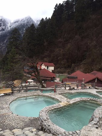 Luding County, China: hot spring at Camp 2 (along the path down)