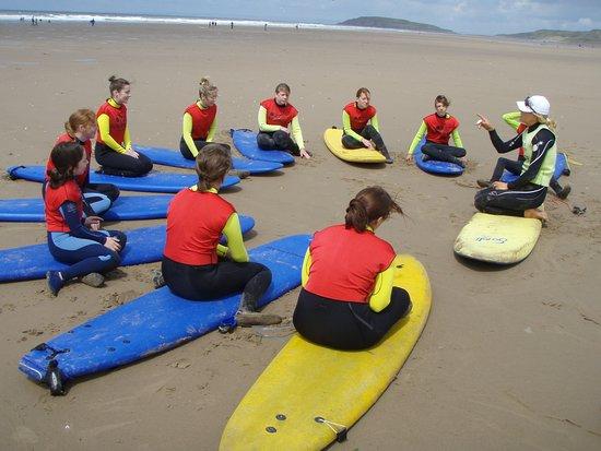 Llangennith, UK: The beach teaching