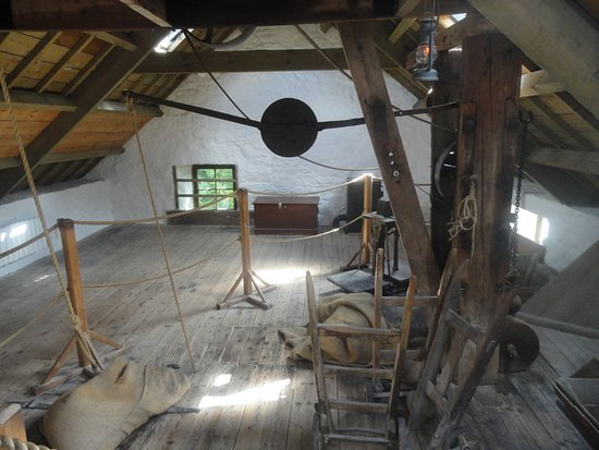 New Abbey, UK: Top floor of mill