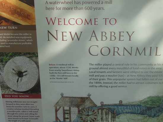 New Abbey, UK: Information panel