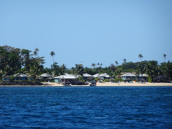 Fagamalo, Samoa: View of the mainland from the boat.