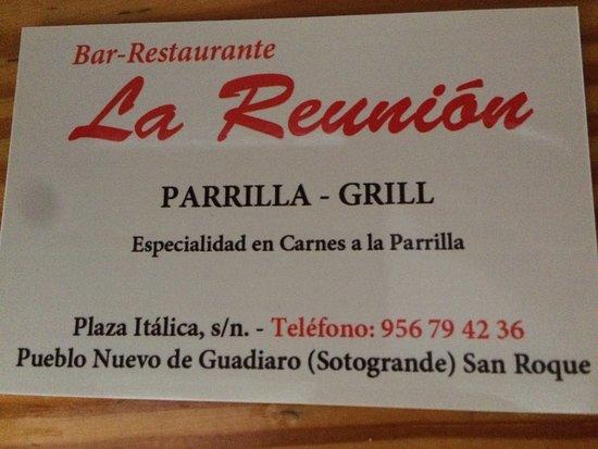 Pueblo Nuevo de Guadiaro, Spanien: La Reunion