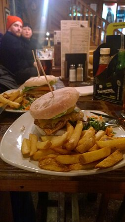 The Porterhouse Temple Bar: Burger et frites au Porterhouse
