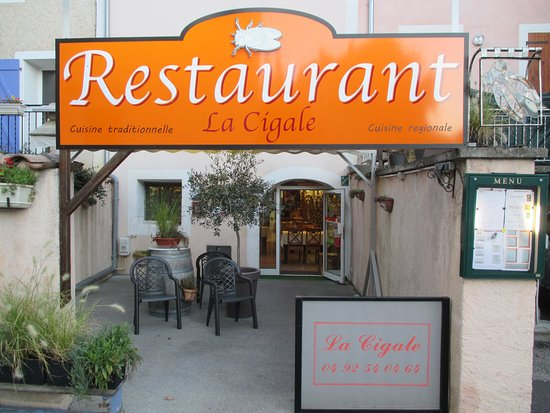 La Cigale: l'entrée du restaurant