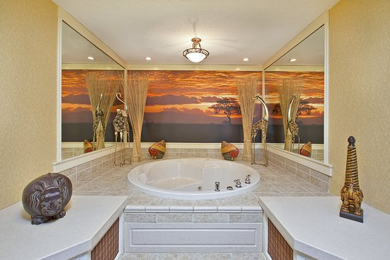 West Middlesex, Πενσυλβάνια: Themed Spa Suite. Jetted Tub Area. Safari.