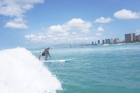 Gone Surfing Hawaii: catching a wave