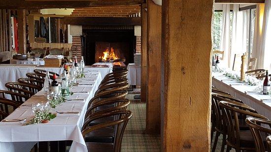 Golf de Deauville Saint-Gatien : Salon cheminée - Restaurant du Golf