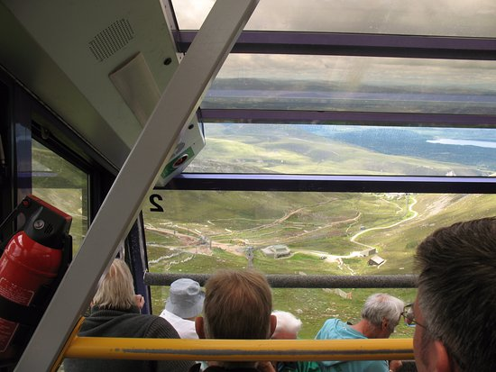 Aviemore, UK: The ride down on the funicular