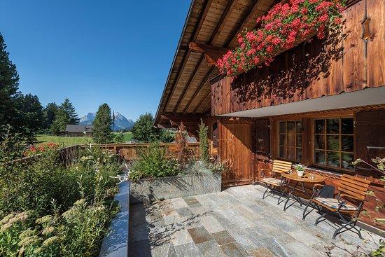 Romantik Hotel Hornberg: Blick vom Garten auf unser Hotel.
