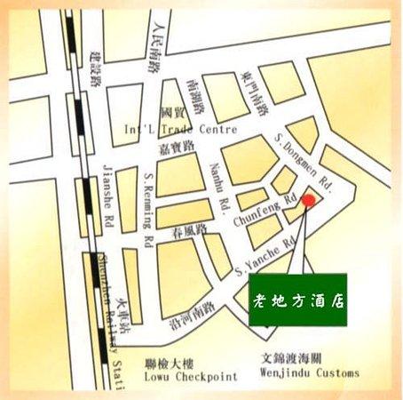 Laodifang Hotel: Map