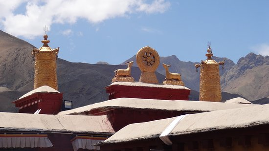 Nedong County, Kina: The rooftops