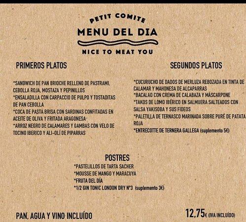Restaurante Petit Comite en Zaragoza con cocina Otras