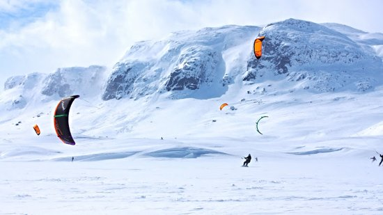 Haukelifjell is a world-class snowkite spot