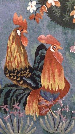 Soreze, Francia: détail d'une tapisserie de Dom Robert