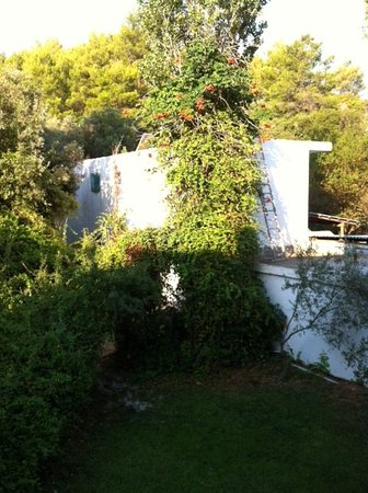 Plaza Skiathos Hotel: View from our room, service building at the back.