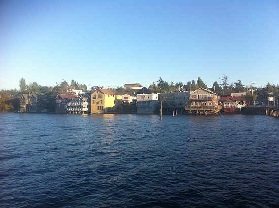 Coupeville, WA: Restaurant view from the wharf