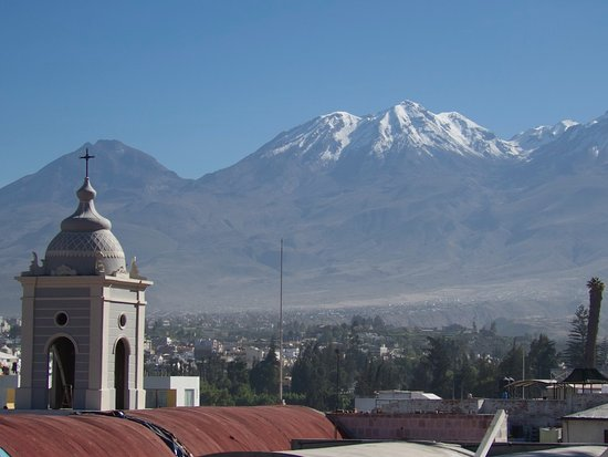 Los Tambos: View of the Mountains from the Roof Deck