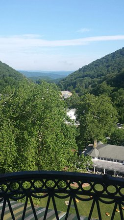 Hot Springs, VA: View from our room in the Tower
