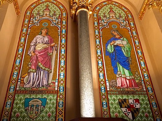 James A. Garfield Monument : Priceless murals - note the White House