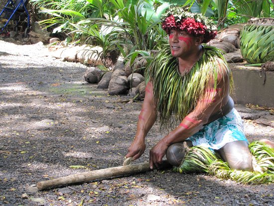 Kaneohe, HI: Tama teaching us how to start a fire using only sticks