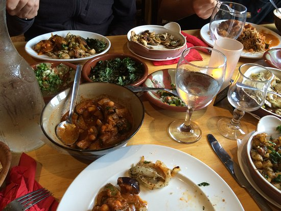 Drogheda, Ireland: selection of vegan main course dishes