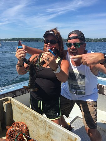 Lobster Boat Tour w/ Captain Clive Farrin: We had the best time on this trip! Captain Clive and Caige were very engaging and informative! I