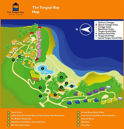 The Tongsai Bay: Tongsai Map