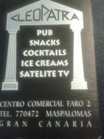 Pub Cleopatra: Business Card