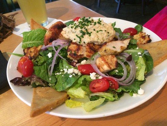 bb's: Mediterranean chicken salad & jambalaya pizza delish both of them!