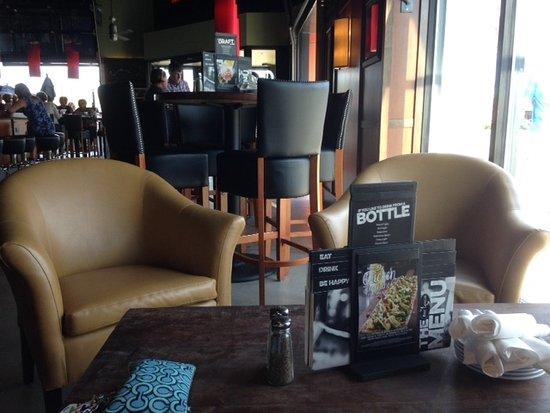 Bar Louie high top and casual bar area