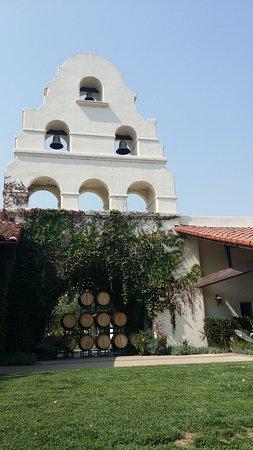 Santa Ynez, CA: Bell tower over vineyard